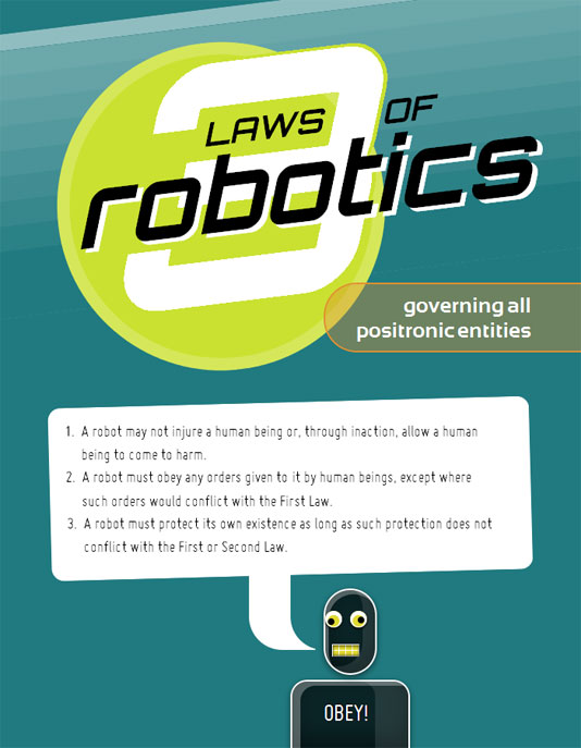 Three Laws of Robotics CSS3 Poster