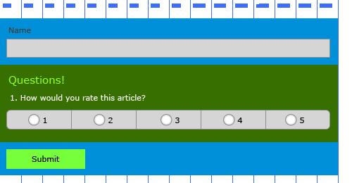 Forms API, example 5, adding a survey question